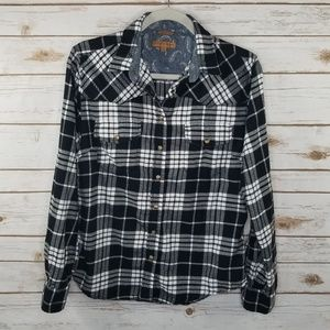 Jachs Girlfriend Bea plaid flannel shirt
